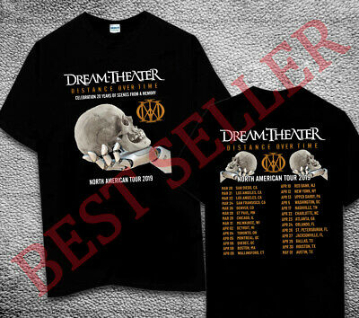 DREAM THEATER DISTANCE OVER TIME TOUR 2018 2019 Concert Album Shirt All Size