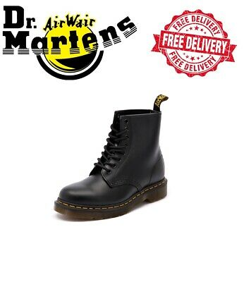 AUTHENTIC Dr Martens Unisex 1460Z 8 Lace Up Black Smooth RRP $249.00
