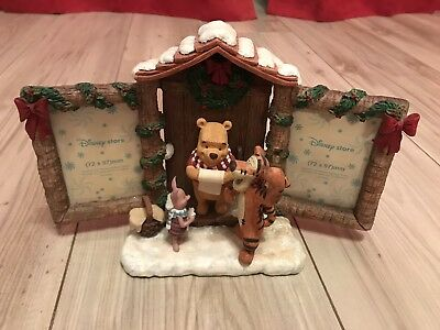 Disney Winnie The Pooh Tigger Piglet Christmas Double Photo Frame Collectable