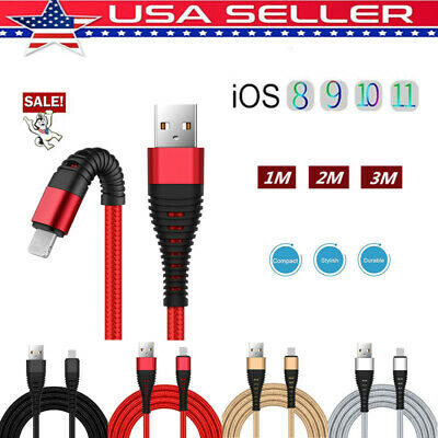 US USB Cable For iPhone X 8 7 Plus Fast Charging Cables Phone Charger Cord Data