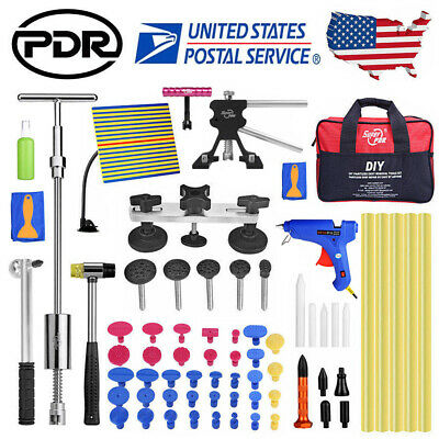 US 65× PDR Paintless Dent Removal Puller Lifter Line Board Car body Repair Kits
