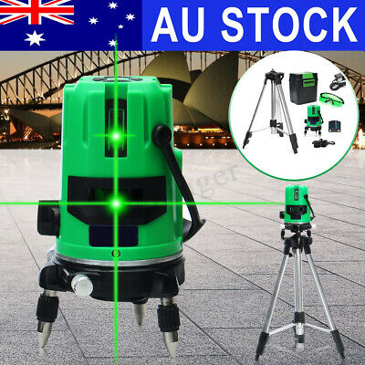 AU Outdoor Self Leveling Green Laser Level 360° Rotating Rotary Cross + Tripod