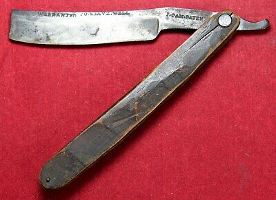 Joseph Cam 11/16 Straight Razor w/ Stub Tail & Engraved Spine - EARLY - Vintage