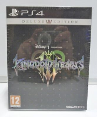 Kingdom Hearts Iii 3 - Deluxe Edition Ps4 Gioco Playstation 4 Uk  Ita Txt