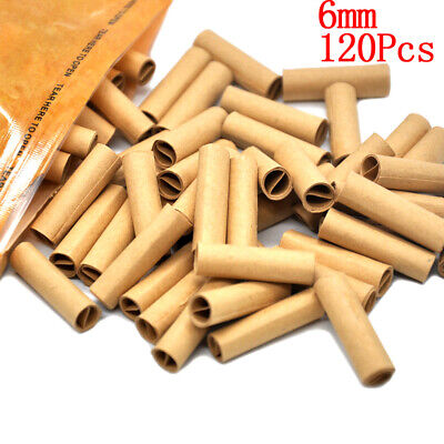 120x/Bag natural cigarette filter smoking rolling paper tips tobacco papers 6mm