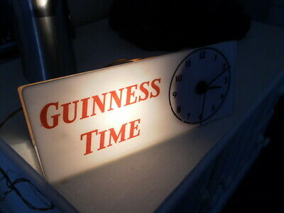 Original 1960s Guinness Time Advertising Clock (Working) Smiths Electric Clock