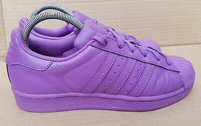 cheap for discount 905ab af8d2 Adidas Superstar Pharrell Williams Supercolour Trainers Purple Size 5 Uk  Rare