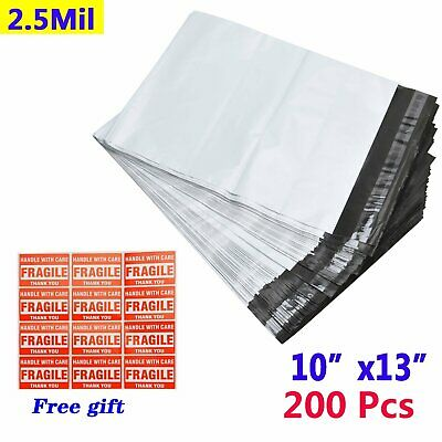 200 10x13 2.5 Mil Poly Mailer Shipping Postal Envelopes Self Sealing Plastic Bag