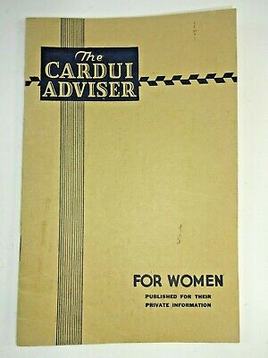 Vintage 1938 Cardui Tonic Womens Remedies Quack Medicine Advisor Booklet  2nd Ed