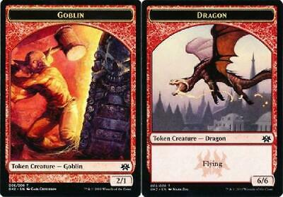 8x Goblin 006 | Dragon 005 Token New Ravnica Allegiance Rakdos Guild Kit