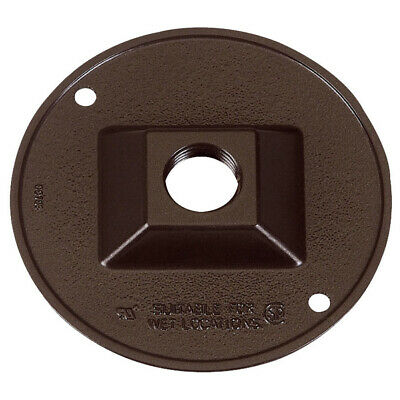 """Lot of 6, Sigma Electric 1/2"""" 1-Hole Round Outlet Box Cover, Bronze 14381BR"""