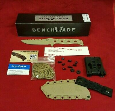 New Benchmade 375SN Adamas Fixed Blade Tactical Military Knife w/ Molded Sheath
