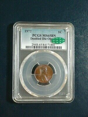 1972 DOUBLE DIE LINCOLN WHEAT Cent PCGS MS65 BN CAC 1C Penny Coin PRICED TO SELL