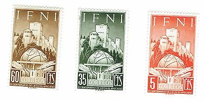 1952 IFNI - 400th Anniversary of the Death of Geographen Leon - 3 Stamps