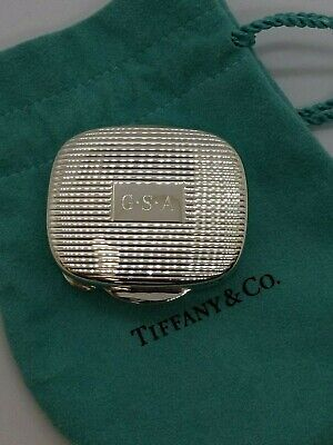 Tiffany & Co. Sterling Silver Ribbed Pill Box Case