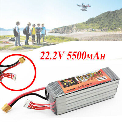 2pcs 22.2V 3500mAh 6S RC Lipo Battery 40C EC5 Plug for Drone Helicopter Airplane Batteries