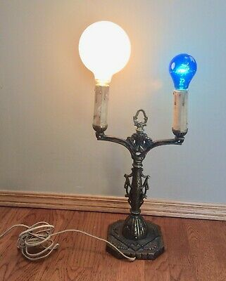 Antique Brass East Lake Table Lamp Art Deco Ornate Vintage-Working