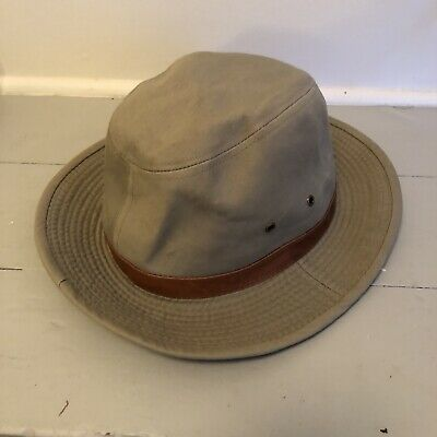 fd6b9fafd4a Vintage Dorfman Pacific Co Scala Classica 100% Cotton XL Hat W leather Band