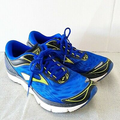 02ca077c8a6 Brooks Transcend 3 Mens 8 M Sneakers Running Shoes Super DNA Electric Blue  Lime