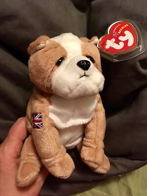 29f98eae377 Ty Fearless Bulldog UK Exclusive Beanie Baby Rare