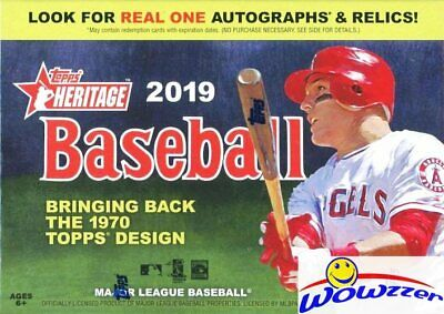 2019 Topps Heritage Baseball EXCLUSIVE HUGE Factory Sealed Blaster Box-Loaded!