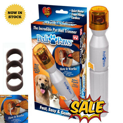 Pedi Paws Nail Trimmer Grinder Grooming Tool Care Clipper For Pet Dog Cat HOME