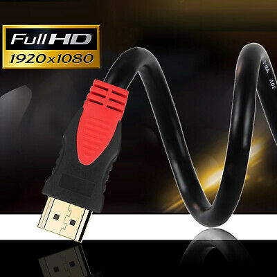Gold Plated 1080P 3D 4K HDMI Cable  HDTV Ultra HD ARC 2160p Lead Cord 3FT - 30FT