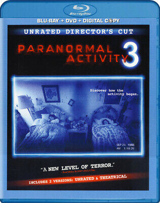 Paranormal Activity 3 (Unrated Director's Cut) (Blu-Ray + Dvd + Digita (Blu-Ray)