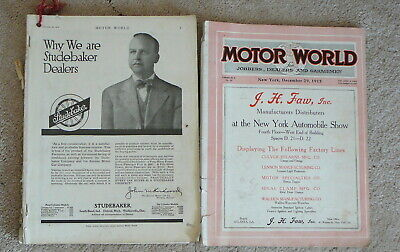 MOTOR WORLD MAGAZINE - 2 Vintage ISSUES DECEMBER 22 & DECEMBER 29 1915 - LOT #28
