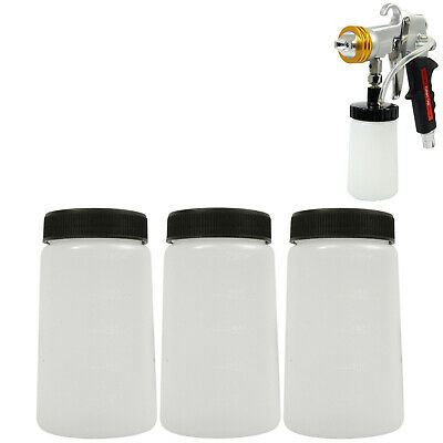 3 Belloccio Spray Tanning Solution Cups w/ Lids, Fit G11 Turbine Applicator Gun
