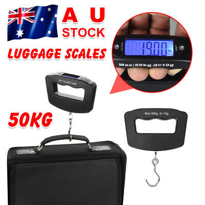 50KG Portable Digital Luggage Weight Scale Handheld Travel Suitcase Scale AU