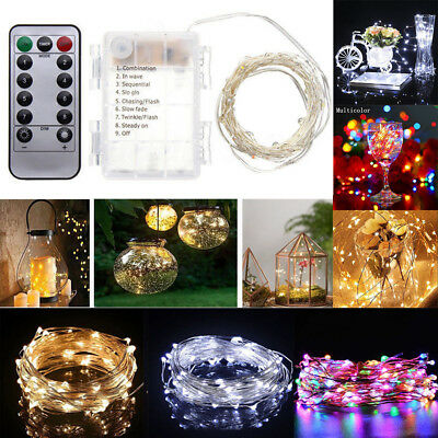 Waterproof LED Copper Wire String Fairy Lights Xmas Party Remote Control 15-33FT