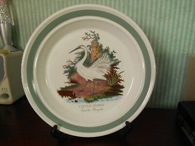 PORTMEIRION 10in DIAMETER BIRDS OF BRITAIN PLATE LITTLE EGRET MADE IN ENGLAND