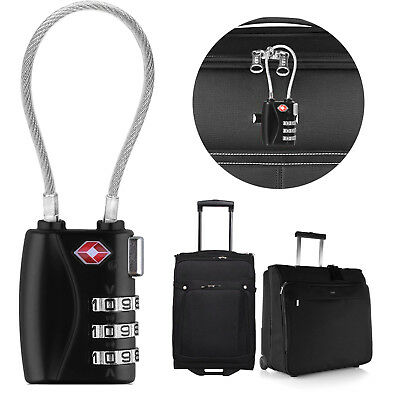 TSA-Approved Resettable Combination Lock Long Cable Security Luggage Locks Padlo