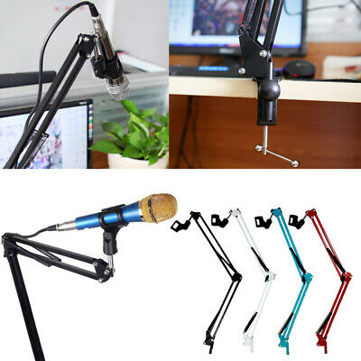 Mic Microphone Suspension Boom Scissor Arm Stand Shock Mount Adjustable NEW