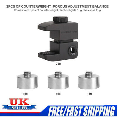 For DJI Osmo Mobile2 Smooth 4/Q Gimbal Stabilizer Balance Counterweights+Clip UK