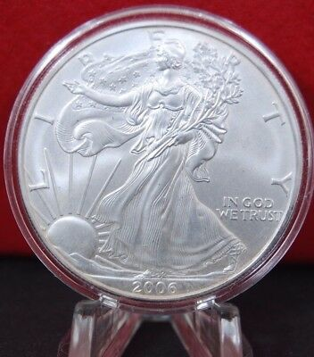2006 Silver American Eagle BU 1 oz US $1 Dollar Uncirculated Mint Air-tite Cap