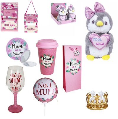 Mothers Day Gift Love Mum Badge Teddy Cup Candle Mirror Trophy Keyring Frame New