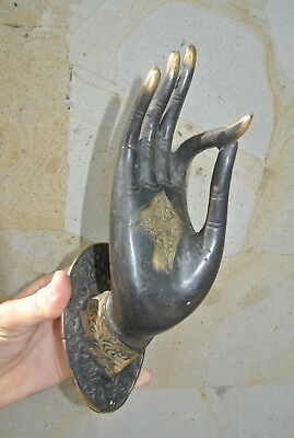 exquisite large Buddha Pull handle Finger brass door antique style HAND 25cm B