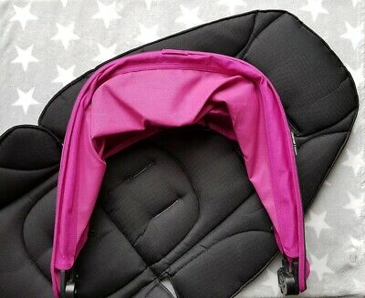 Mamas & Papas Zoom Pram Colour Pack in Pink and Black Hood Seat Pad - fits Sola