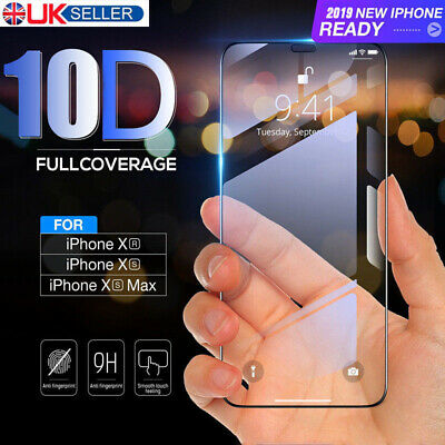 3pcs 10D Curved Tempered Glass 9H Screen Protector For iPhone X XS Max XR 8 Plus