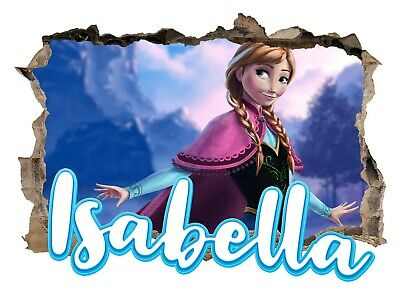 Personalised Any Name Frozen Wall Decal 3D Art Stickers Vinyl Room Bedroom