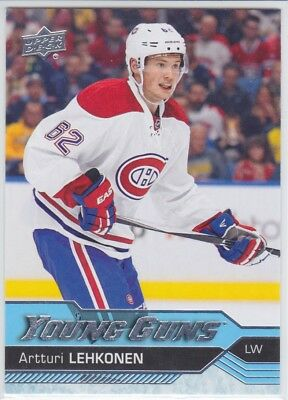 ARTTURI LEHKONEN (RC) 2016-17 Upper Deck Young Guns #232 Rookie Canadiens