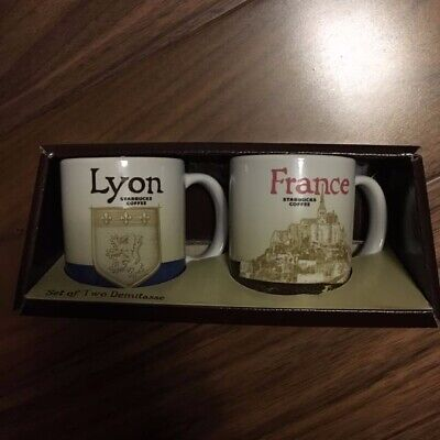Two Starbucks City Et Set Of Demitasse France 3oz Lyon Mug 4AL5qRcj3