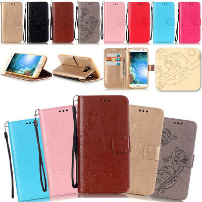 -ZHYB Embossing Leather Wallet Case Cover For Samsung Galaxy S3 S4 S5 Mini S6 S7