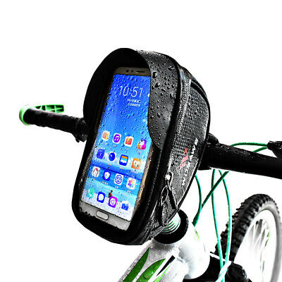 Waterproof Bike Handlebar Bag Cellphone Bicycle Frame Bag Touch Screen 6.0inch