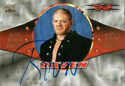 Raven Tna Wrestling Authentic Signed Autograph 2004 Pacific Trading Card Ecw Wwe
