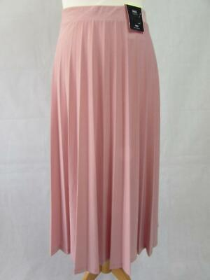 e0c61efef83e MARKS & SPENCER Ladies Rose Pink Jersey Pleated Pleat Midi Skirt Size 16  BNWT