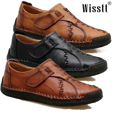 Men's Driving Moccasins Non-slip Comfy Casual Leather Loafers Boat Shoes Slip On