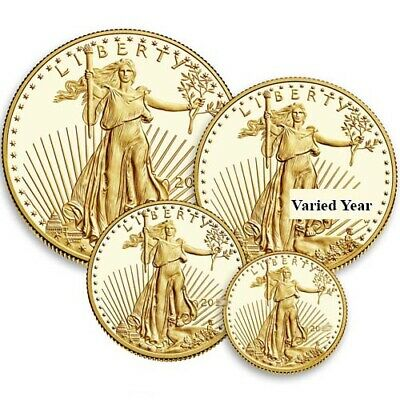 4-Coin Proof American Gold Eagle Set (Varied Year, Box + CoA)